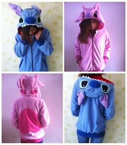 Kigurumi Lilo&Blue Stitch Warm Hoodie/Coat/Jumper/Hooded Angel Cosplay Costume