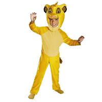 Child Boy's Disney Lion King Simba Halloween Costume Plush Head Child S M L