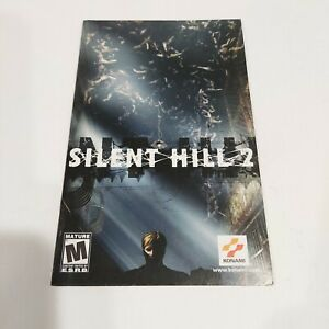 2001 Silent Hill 2 Instruction Booklet Manual Only Sony PlayStation 2 PS2 Konami