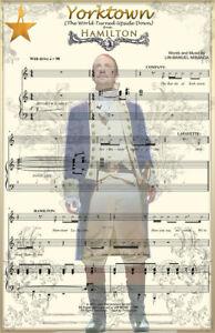 Hamilton Yorktown Turned Upside Down Music Art 11 x 17 High Quality Poster