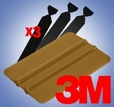 3M Gold Squeegee Applicator Tool Felt Edge Decal Tips x3 Vinyl Wrap DIY Kit Set