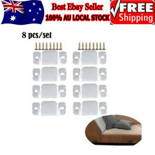 Universal Sectional Interlocking Couch Sofa Connector Bracket 8pcs with Screws