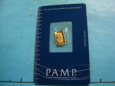 PAMP SUISSE HORN PLENTY 1 GRAM 999.9 PURE GOLD RARE SIZE ASSAYED SEALED
