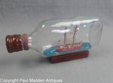 Vintage Nantucket Lightship Ship in Bottle