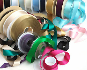 Berisfords Double Satin Ribbons 25mm (1 inch) width, 2 metres or 5 metres