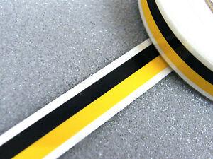 Zierstreifen Dekorstreifen doppelt 7 mm schwarz gelb