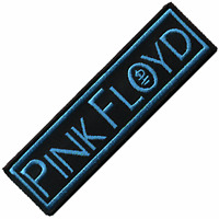 Pink Floyd turquoise on black iron-on/sew-on cloth patch (cv)