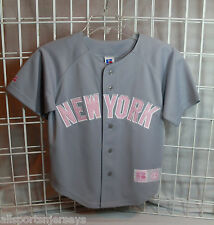 NWT MLB RUSSEL YOUTH JERSEY - NEW YORK YANKEES GREY/ PINK - 7