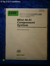 Sony Bedienungsanleitung MHC NX1 Component System (#2200)