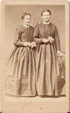 A.G. Stender CDV photo Feine Damen / benannt - Glashütte 1870er