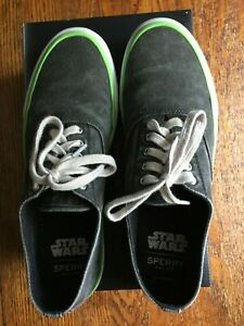 Men's THE DEATH STAR CLOUD CVO Sperry Topsider 9 1/2 M Star War Great Condition