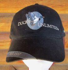 Ducks Unlimited Sponsor Black Cotton Flying Mallard Duck Baseball Cap Hat 749d587b881b
