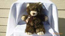 Gerber Precious Plush Teddy Bear Original Hang Tag Attached Brown Cream