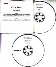 DAVID BOWIE David Live 2005 UK 21-track promo test 2-CD