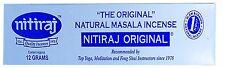 Nitiraj Original Natural Masala Incense/Joss sticks  Fair Trade 12 grams