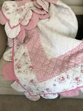 Laura Ashley Girls Quilted Bedcover/Bedspread Excellent Condition