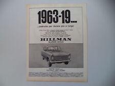 advertising Pubblicità 1963 HILLMAN SUPER MINX