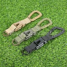 Tactical MOLLE Webbing Belt Keychain Snap Hook Quick Release Buckle Key Ring 1PC