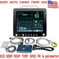 Medical Monitoring System Patient Monitor NIBP SPO2 ECG TEMP RESP PR Hospital CE