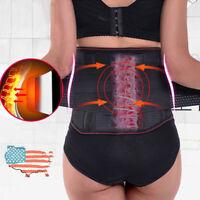 Tourmaline Back Lumbar Brace Support Posture Belt Waist Self-Heating Pain Relief