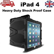 Tough Military Heavy Duty Silicone Rubber Case for iPad 4 (A1458/A1459/A1460)