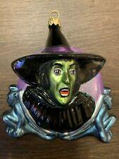 "Kurt Adler Polonaise ""Wicked Witch"" Ap 1312 Wizard of Oz Holiday Ornament w/box"