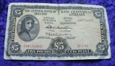 1965 Irish Lady Lavery Five Pound Banknote Old Ireland £5 Note A Series