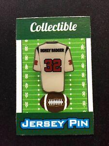 "Houston Texans Tyrann Mathieu jersey lapel pin-#1 Collectible-""Honey Badger"""