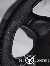 FOR MORRIS OXFORD MO PERFORATED LEATHER STEERING WHEEL COVER GREY DOUBLE STITCH