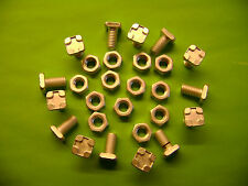 10 ALUMINIUM GREENHOUSE SQUARE HEAD 11 MM BOLTS AND NUTS (see also our clips )