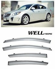 For 11-UP Buick Regal WellVisors Side Window Visors W/ Chrome Trim