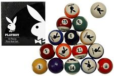 PLAYBOY LICENSED POOL BALLS SET 16PCE BOXED GENUINE LICENSED PRODUCT