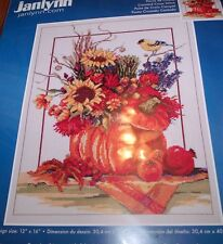 Janlynn Stunning FALL FLORAL  Counted Cross Stitch Kit 12