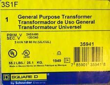 Square D 3S1F General Purpose Transformer, 3 kVA, Primary 240x480V, 3R Enclosure