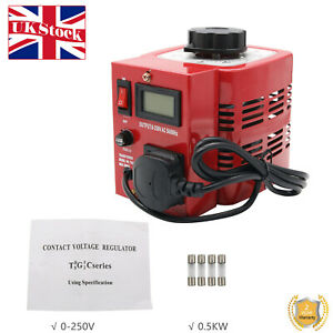 APS-500W 0.5KW Variac Variable Transformer Voltage Regulator Powerstat 0-250V UK