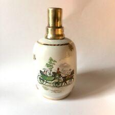 Ancienne Lampe Berger Porcelaine Revol Décor De Calèche