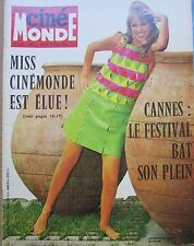 CINEMA POSTER MISS CINEMONDE DELON GIRARDOT FINNEY   N° 1745 CINEMONDE 1968