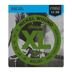 D'addario EXL117 Nickel Wound Electric Strings 11-56, Med Top/x-heavy Bottom
