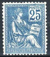 "FRANCE STAMP TIMBRE N° 118 "" MOUCHON 25c BLEU TYPE II 1900 "" NEUF xx LUXE  M562"