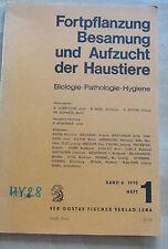 DDR Buch Fortpflanzung Besamung Aufzucht Haustiere  Pathologie Hygiene Bd 6 H1