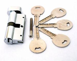 70mm Thumbturn Cylinder Euro Profile Security UVPC Door Lock 5 keys Anti Drill