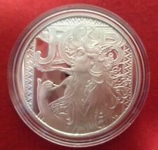 1 Ounce Mucha Collection Proof Round .999 Fine Silver In  Airtite 1st In Series