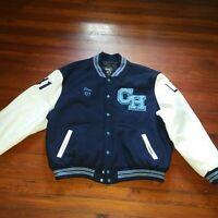Chesnut Hill Academy Wool Leather Snap Varsity 2007 Letterman Jacket  Sz 2X