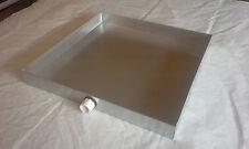 HVAC DRAIN PAN 16 X 16 X 2 GALVANIZED 26 GAUGE SHEET METAL
