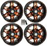 "STI HD7 UTV Wheels/Rims Orange/Black 14"" Polaris RZR 1000 XP (4)"