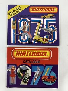 2 Matchbox Collector's Catalogs 1975 - 1976  U.S.A. Editions Booklet Catalog