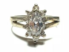 Gemstones - Mint! - Size 8.75 Amazing Sterling Silver Ring With Clear