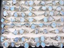 US SELLER- 15pcs opalite wholesale ring jewelry lot bulk fashion jewelry