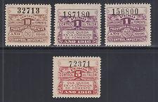 Argentina, Santa Fé, MNH. 1916 Comision de Fomento Fiscals, 4 Talon & Control