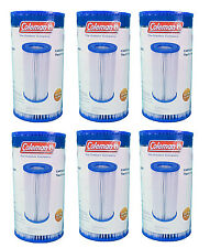 Coleman Type III A/C Pool Filter Pump Replacement Cartridge, 6-Pack | 90307